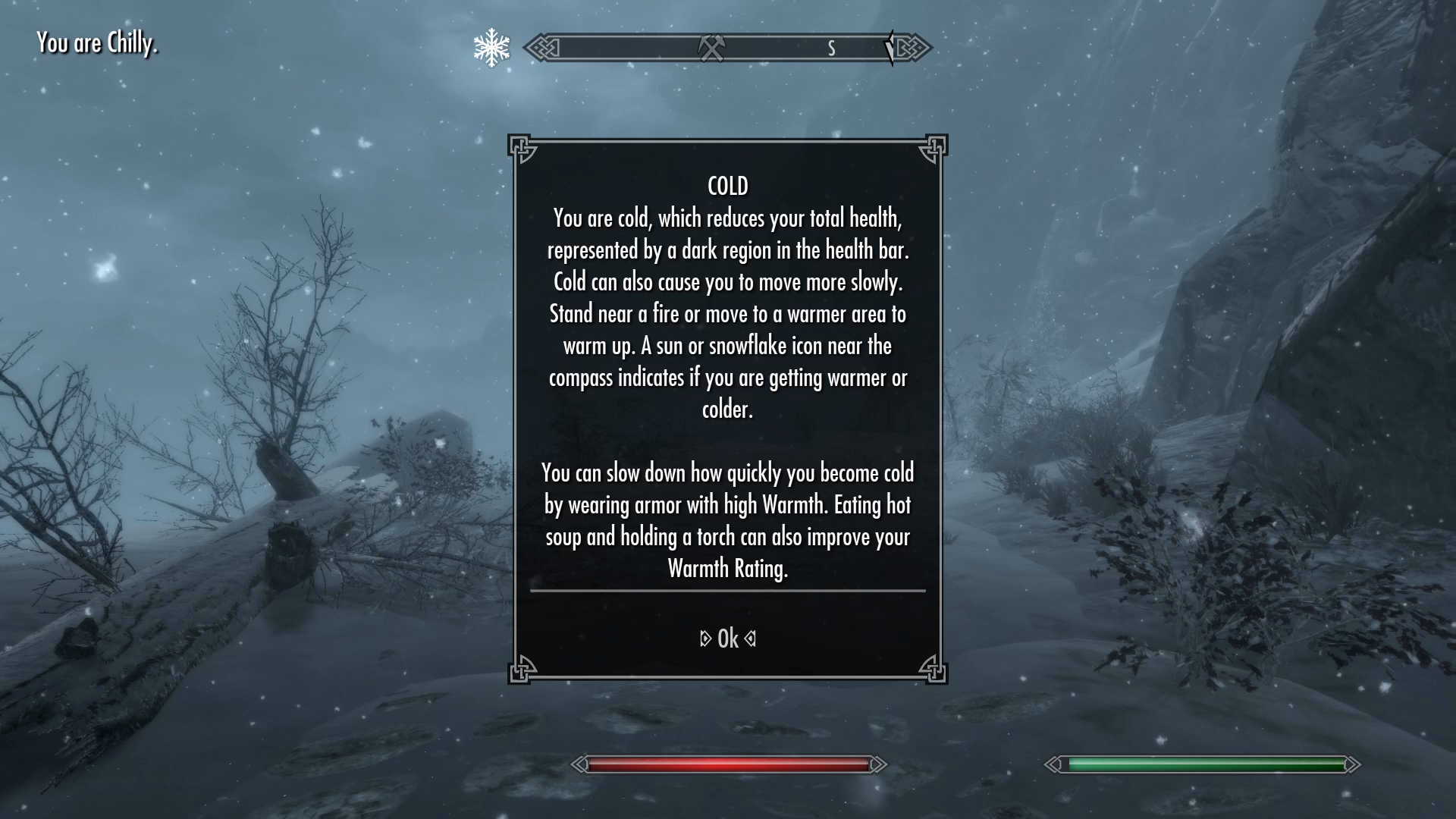 Skyrim Survival Mode Guide Tips And Tricks Region Temperature Map