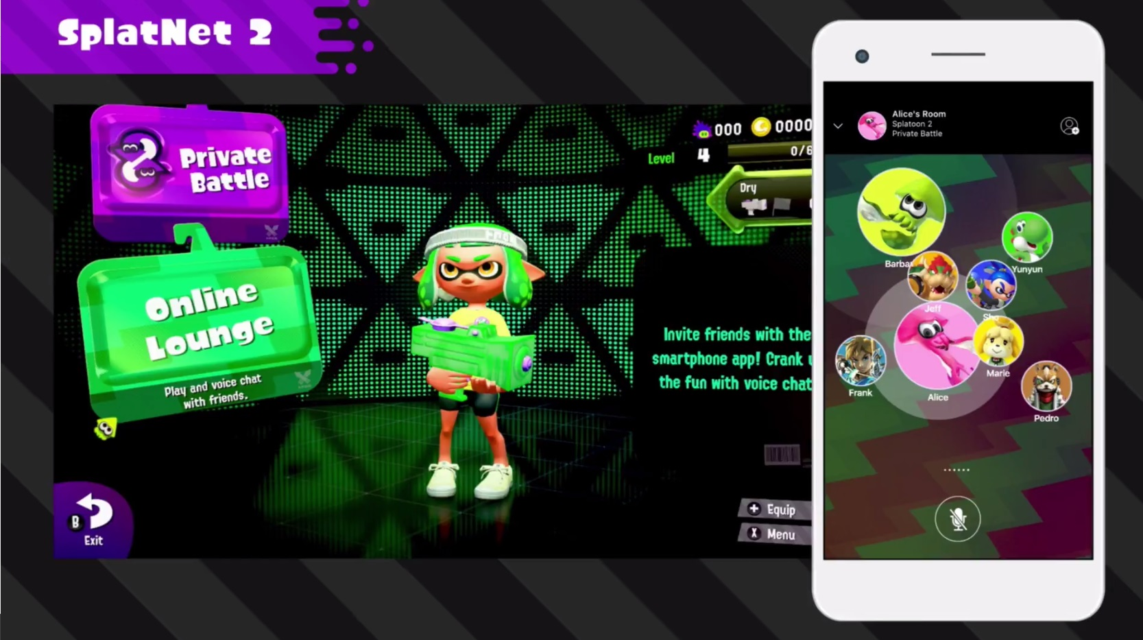 splatoon 2 s grouping and nintendo switch online voice chat are a