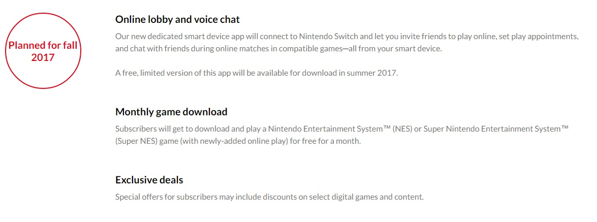nintendo switch online service is paid offers free nes super nes