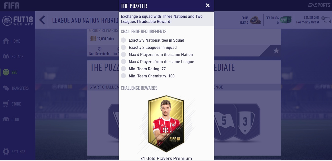 Fifa  Ultimate Team Makes Building Squads Its Own Puzzle Mini Game Squad Building Challenges In Fifa  Ultimate Team Are Added All The Time Some With