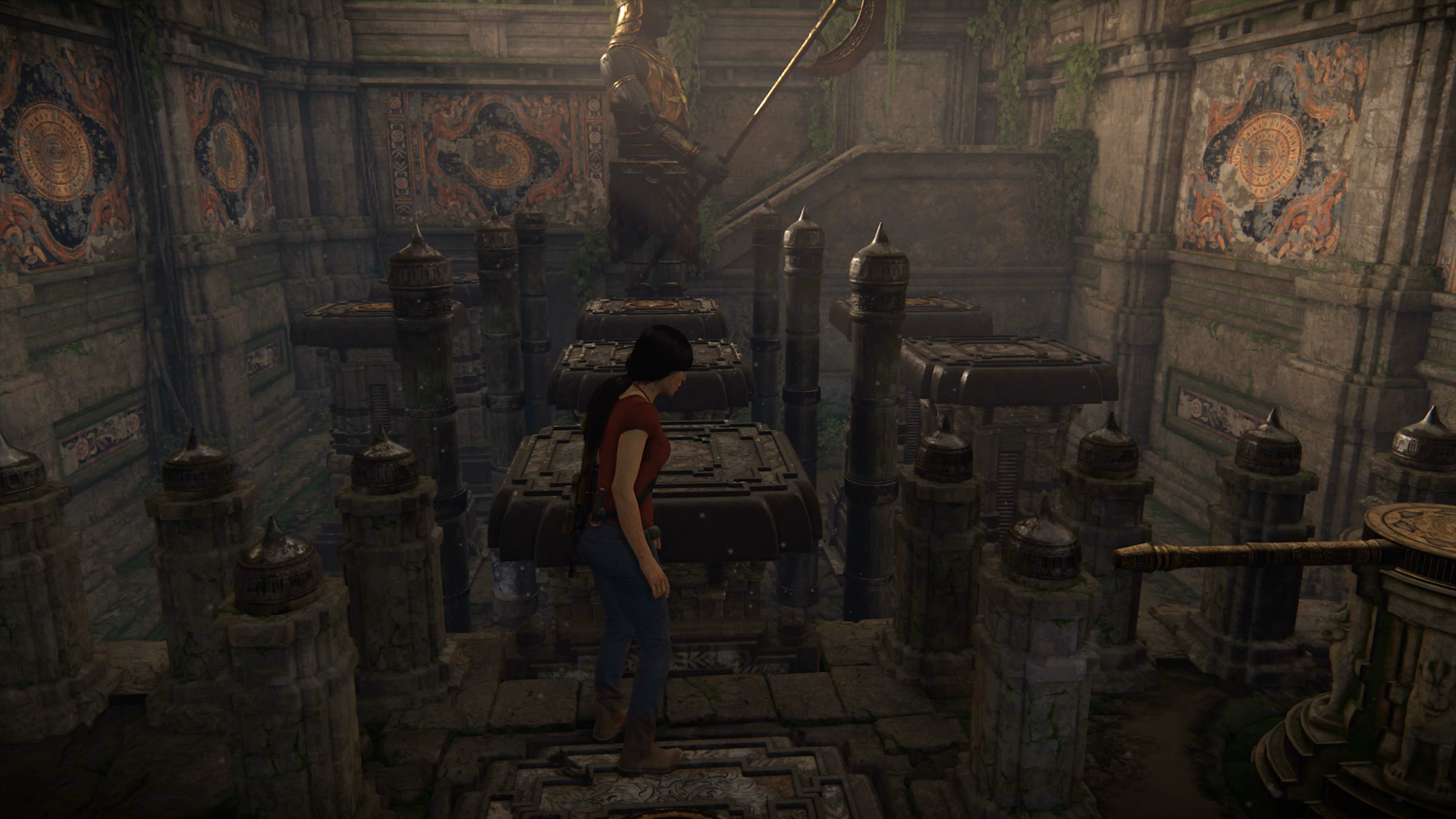 Uncharted The Lost Legacy Axe Statue Puzzles Chapter 4 Western