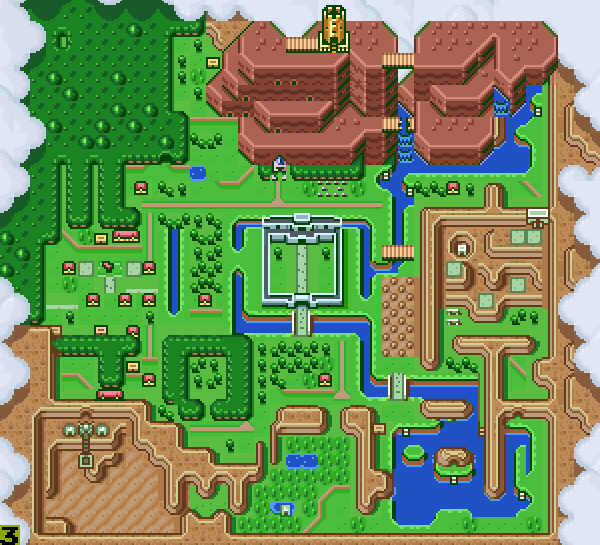 A Link To The Past Dark World Map.A Link To The Past Deep Dive Part 2 A Prologue That Spanned The