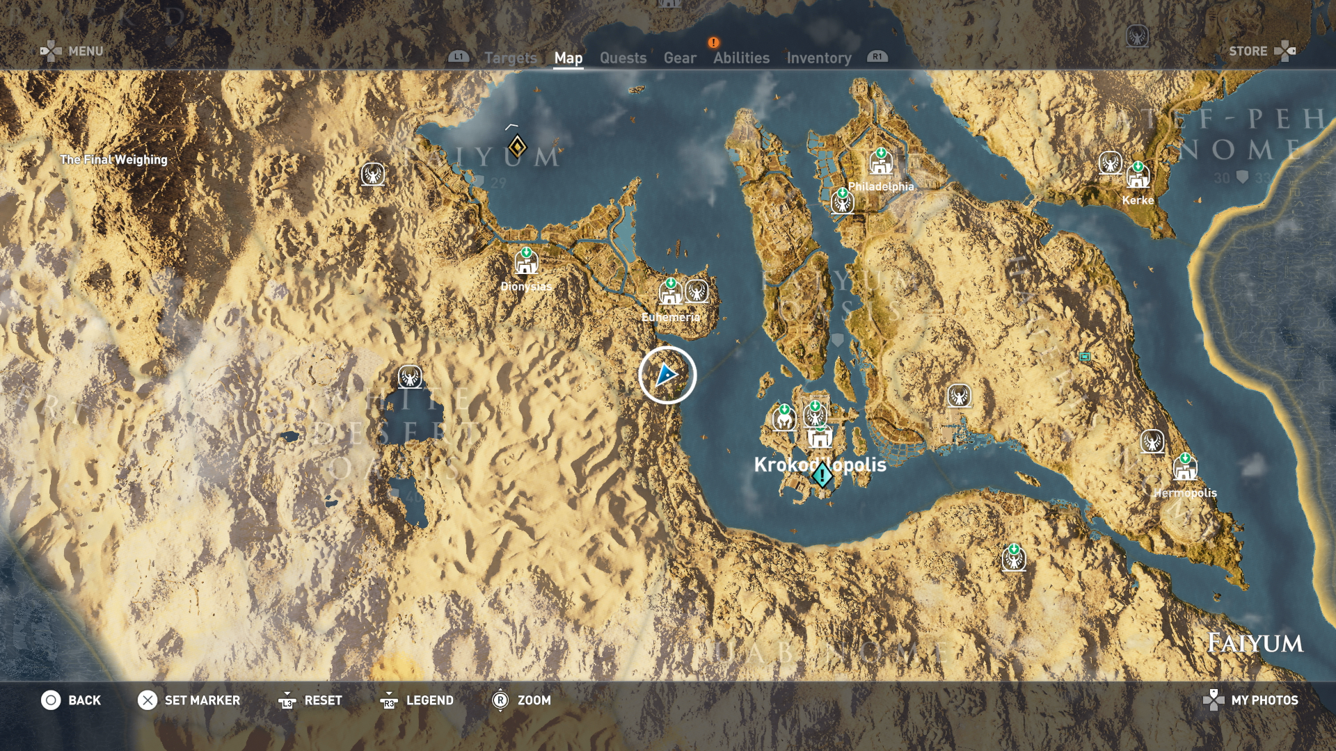assassins creed origins map symbols meaning
