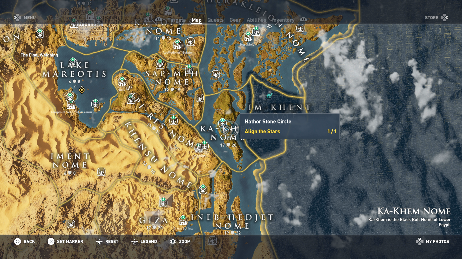 Assassin S Creed Origins Stone Circles Stone Circle Locations Bayek S Promise Quest Walkthrough Get The Legendary Isu Armor Usgamer