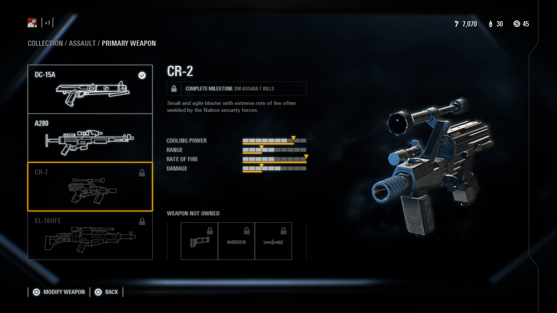 The Weapon That Could Well Be Best Overall In Star Wars Battlefront 2 Let Alone For Assault Class CR Will Take You A While To Unlock At