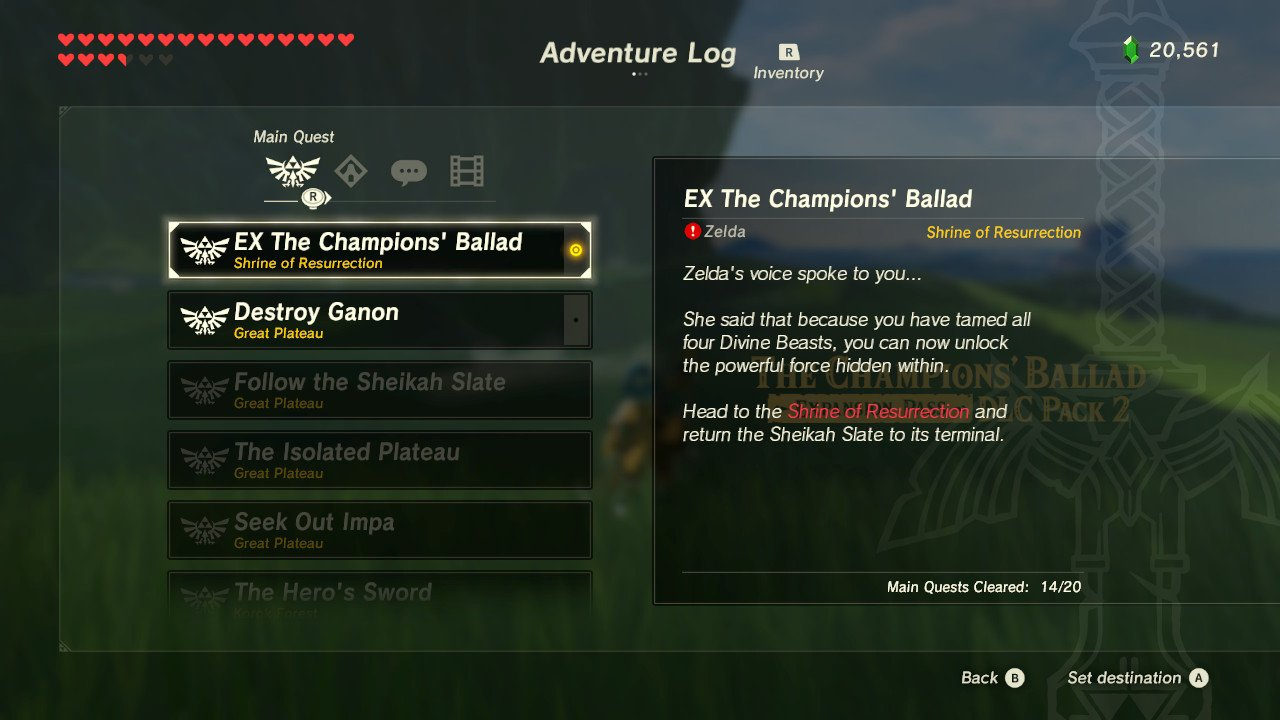 Zelda Breath of the Wild Champions' Ballad - How to Start BOTW DLC