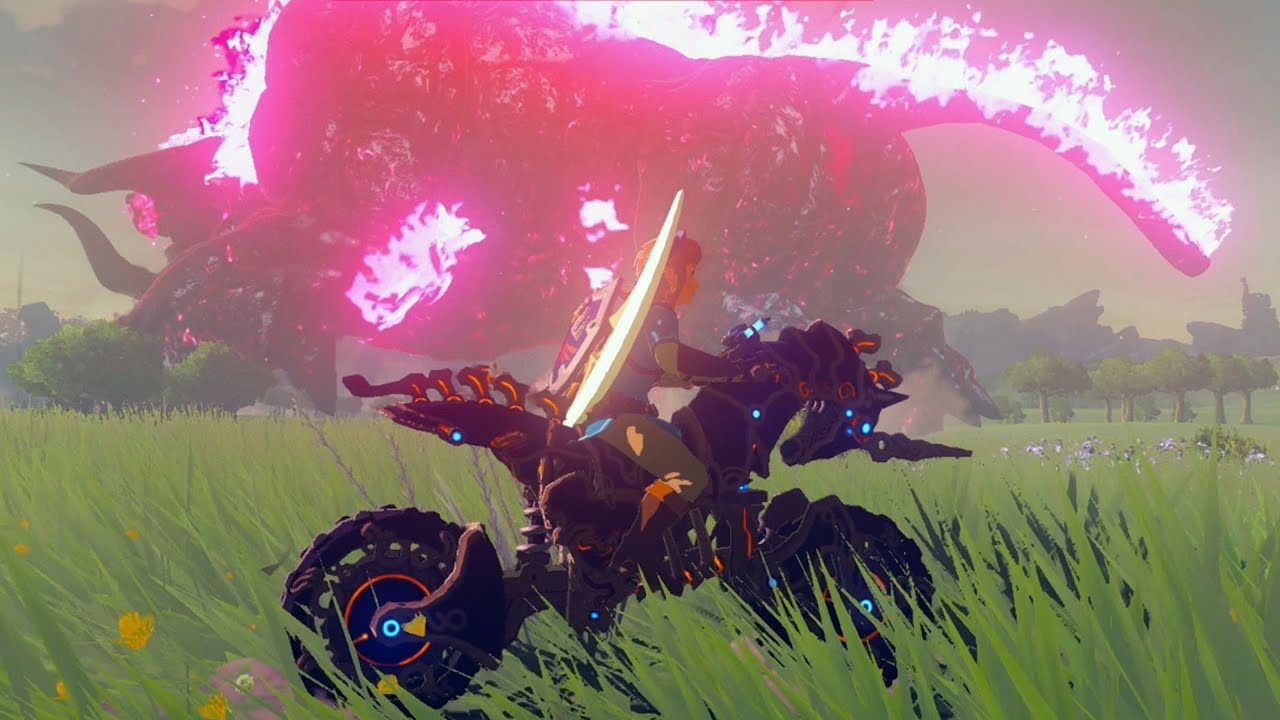 As it turns out through the tweeted gameplay of Breath of the Wild's new Master  Cycle Zero just below, you can jump while mounted on the bike meaning as ...