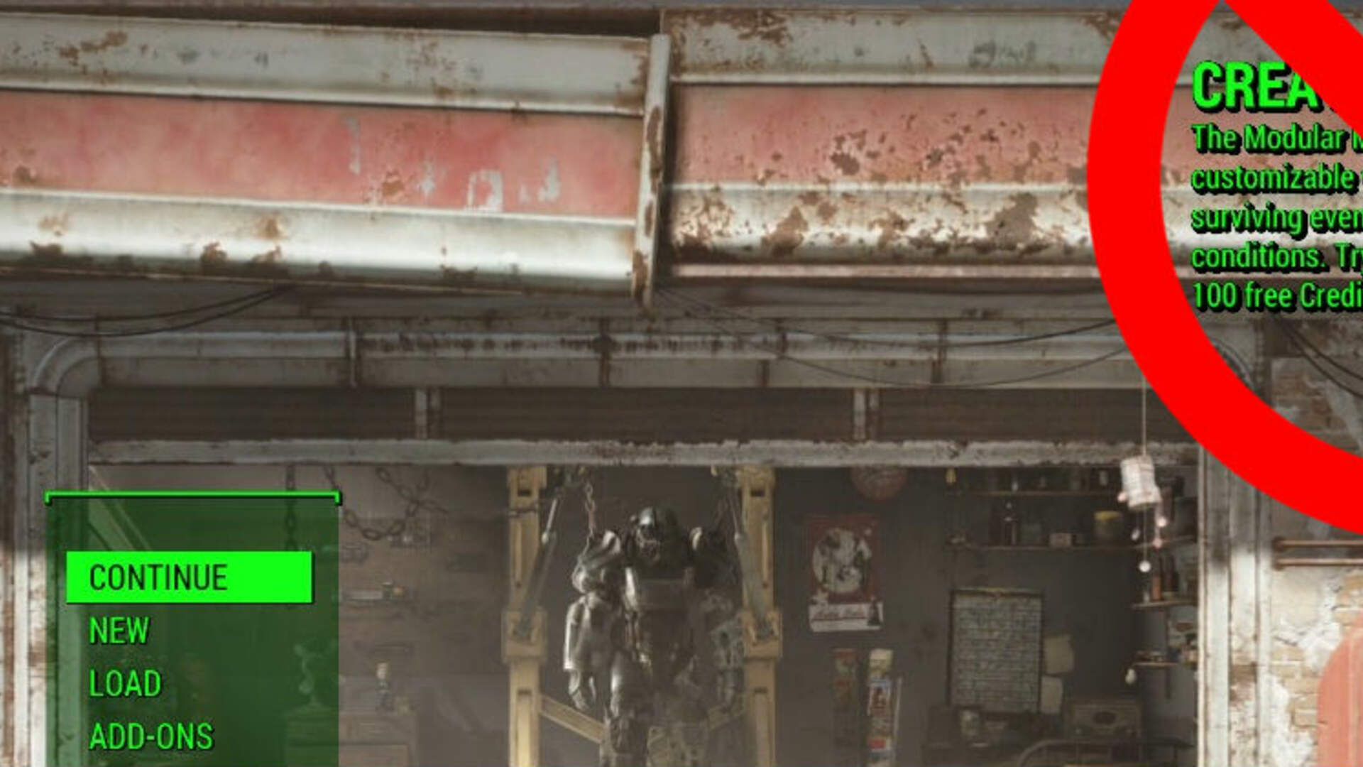 Some Fallout 4 Users Hate Creation Club so Much They Modded out a Menu Notification for It