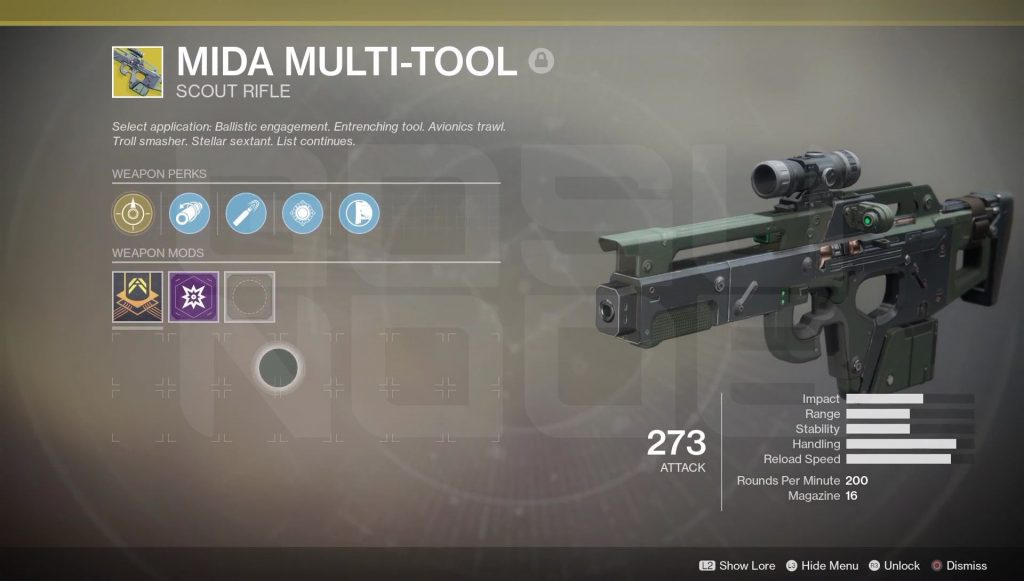 Destiny 2 mida multi tool guide how to get the mida multi tool the destiny 2 mida multi tool is an exotic scout rifle that can be obtained in the game by completing certain tasks it is a weapon that returns from the malvernweather Image collections