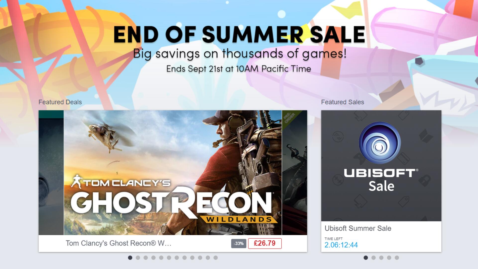 New Games Added to Humble's 'End of Summer Sale' Range
