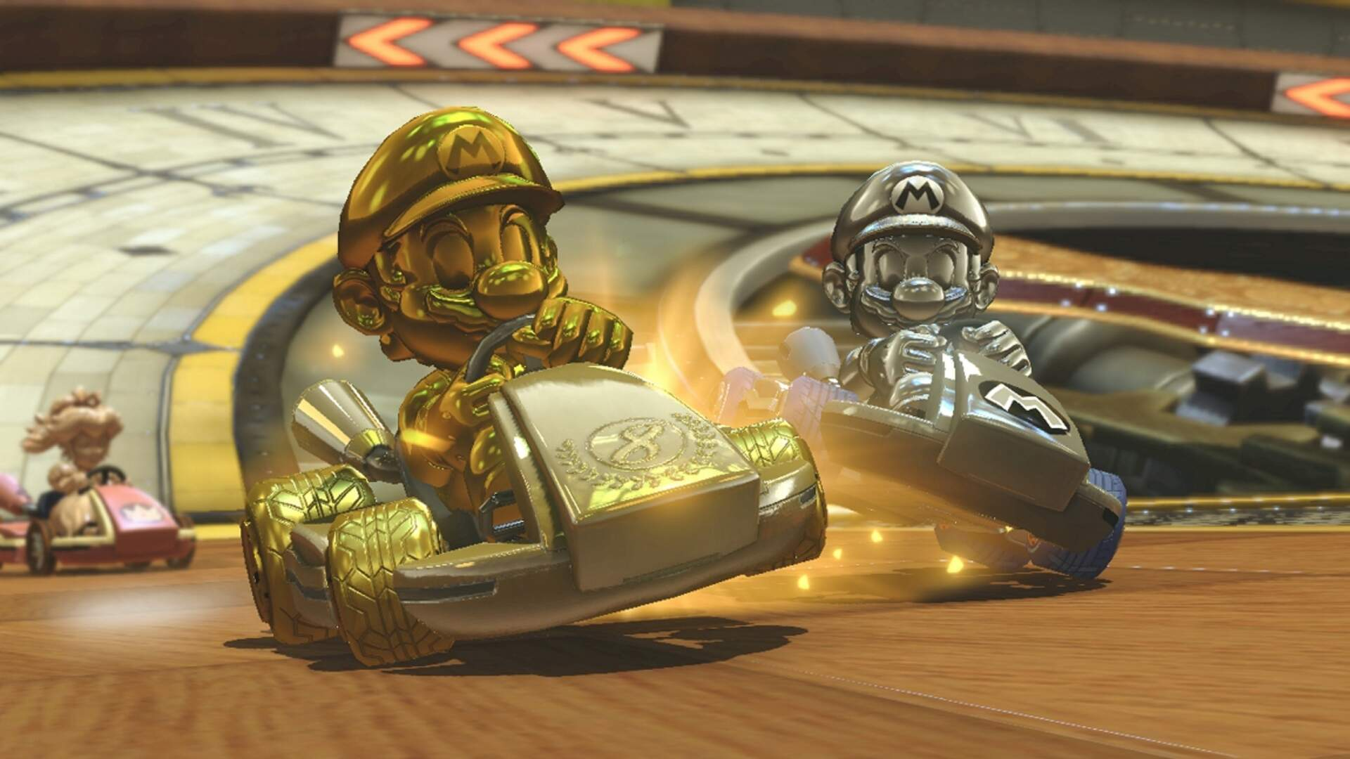 Mario Kart 8 Deluxe Unlockables, Characters and Tracks - Gold Mario and Gold Kart