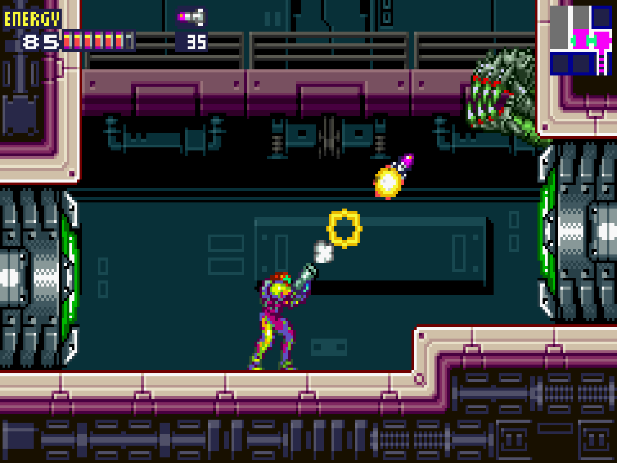 While Fusions Game Boy Advance Sprite Work Makes It Look Most Like Super Metroid For NES The Itself Heavily References II