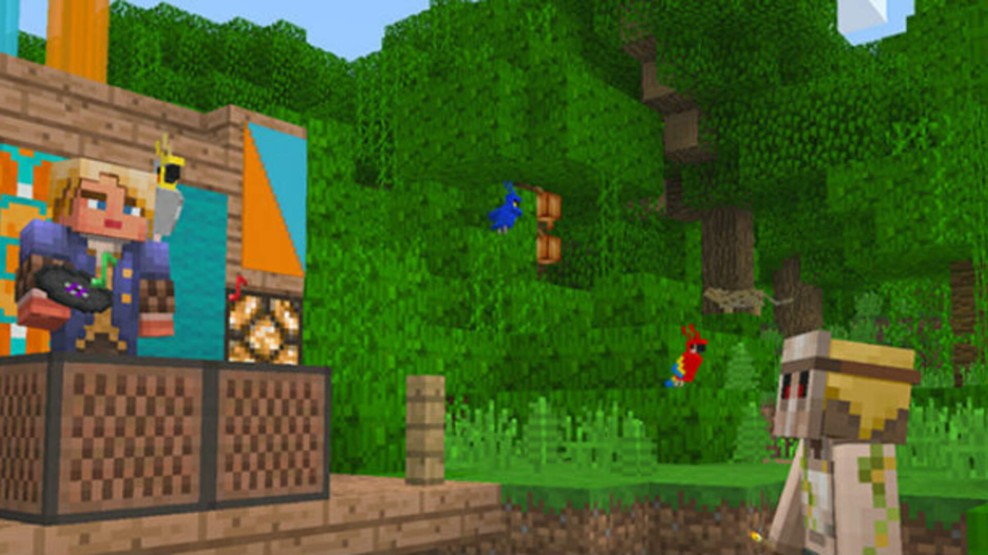 Minecraft Bedrock Edition for Nintendo Switch Demoed on Twitch