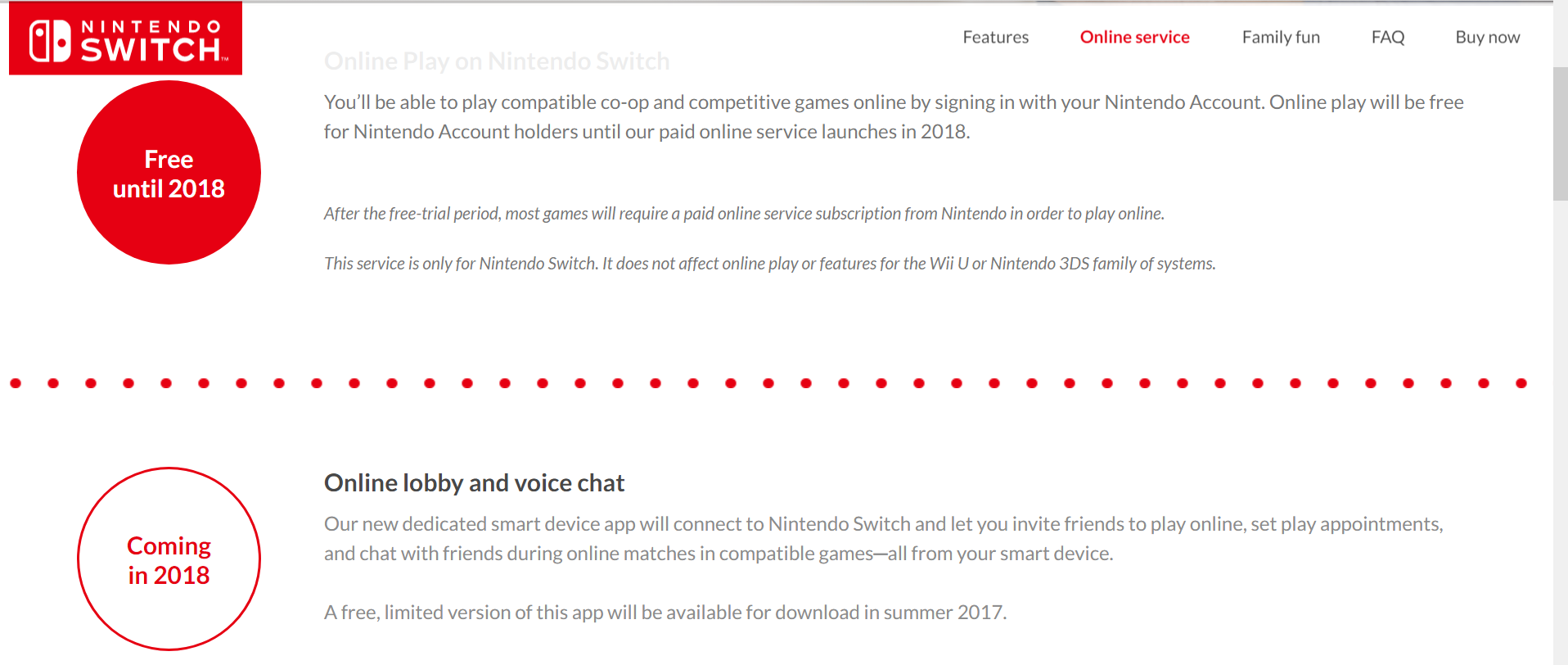 nintendo switch online service pushed to 2018 will cost 20 per