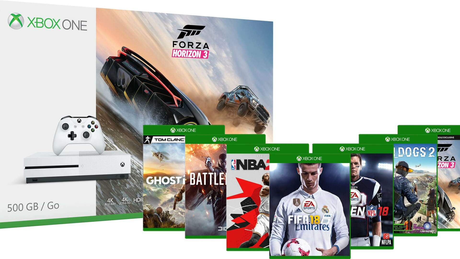 Get an Xbox One S with Three Games for $249 This Week Only