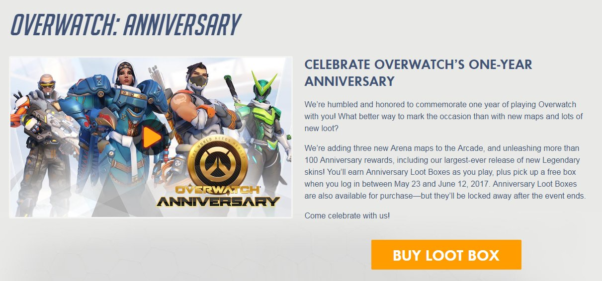 Overwatch Anniversary Event - (Update: Ending Today!) Double XP ...