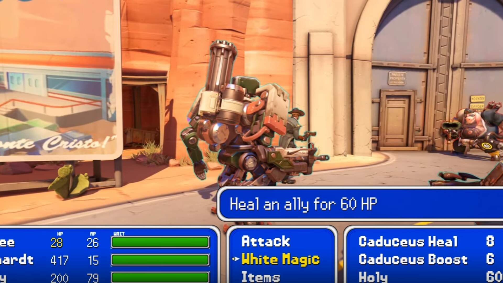 This is What Overwatch Looks Like as a JRPG