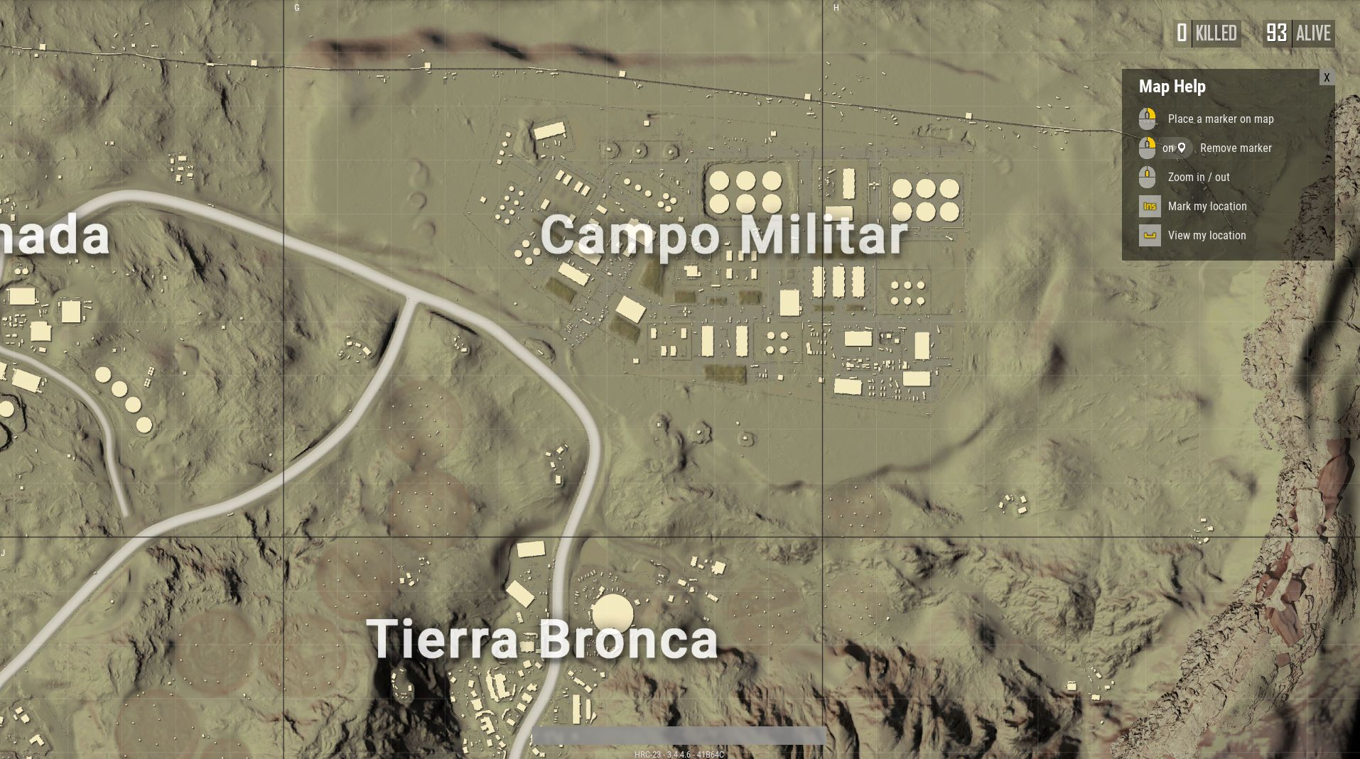 PUBG Desert Map Guide How To Win On The Miramar Desert Map All - My location height above sea level