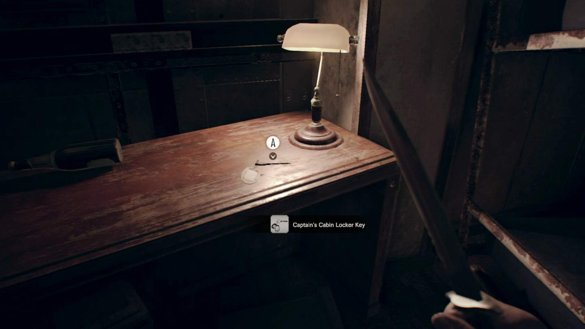 Resident Evil 7 Walkthrough - Fixing the Ship's Elevator, Find the Captain's Cabin Locker Key, Solve the Lounge Painting Puzzle