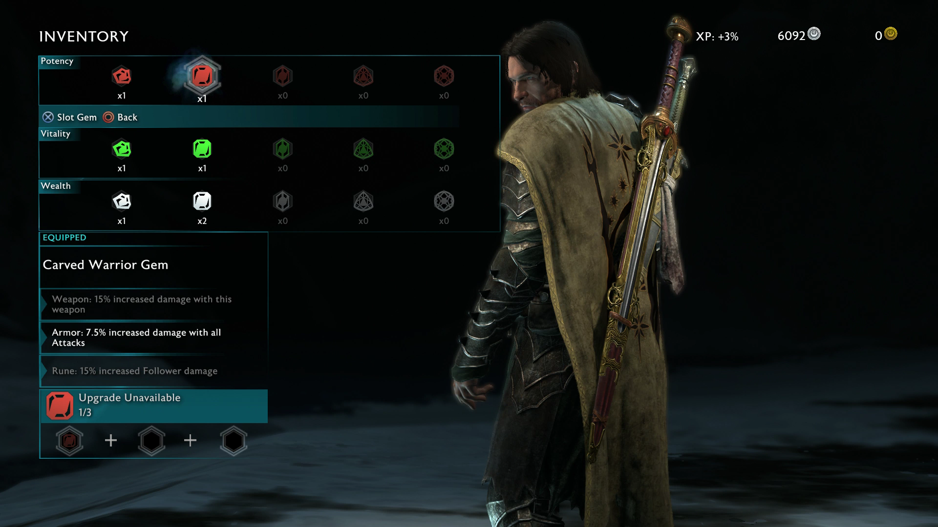 how to change skin shadow of war