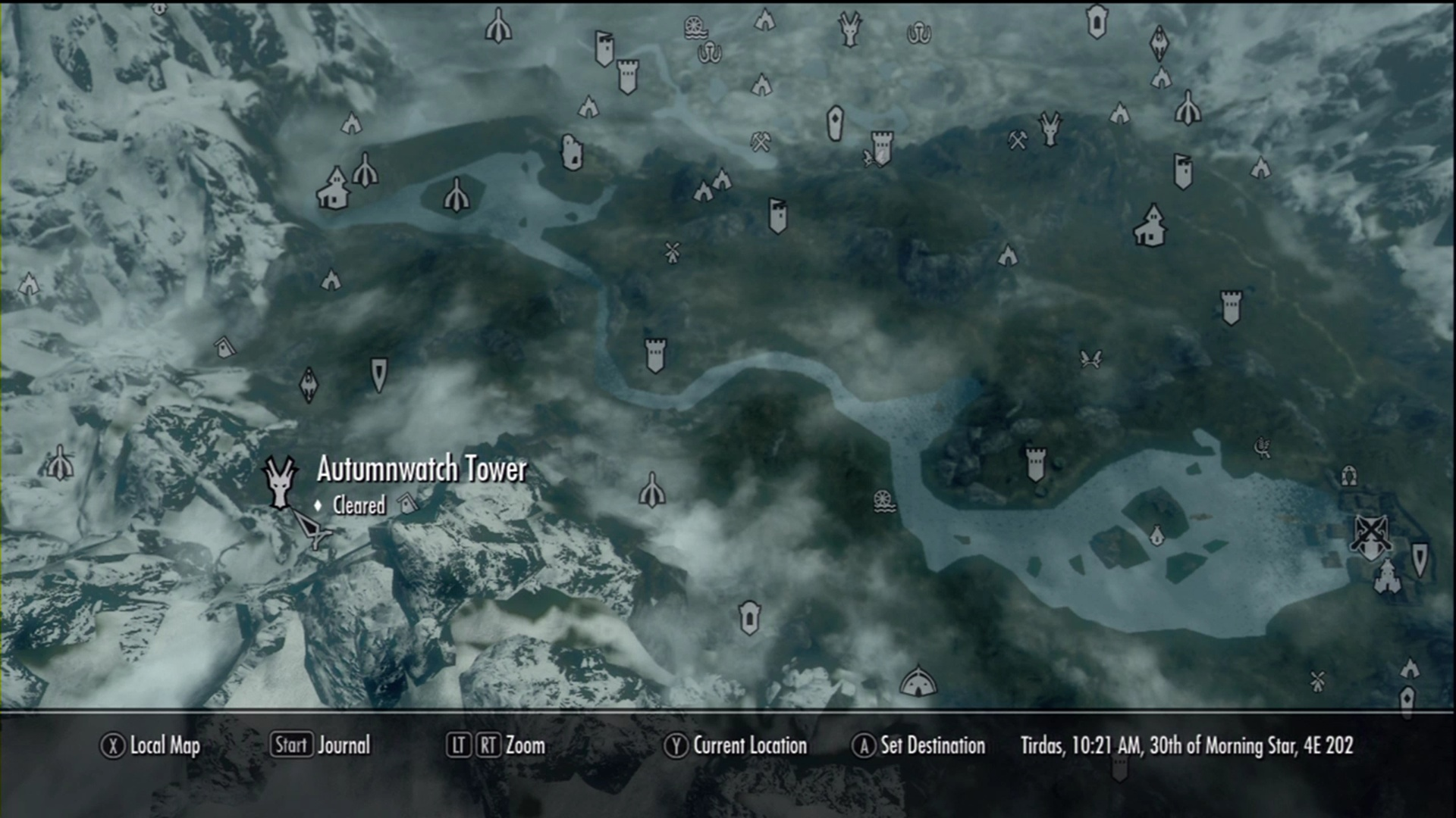 Skyrim guide all dragon shrines locations usgamer the location of autumnwatch tower freerunsca Image collections
