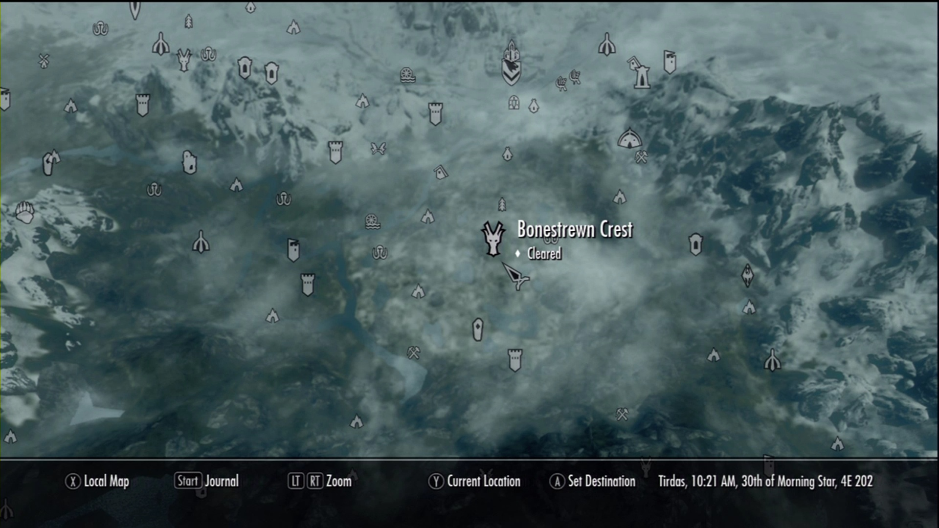 how to discover all places in skyrim