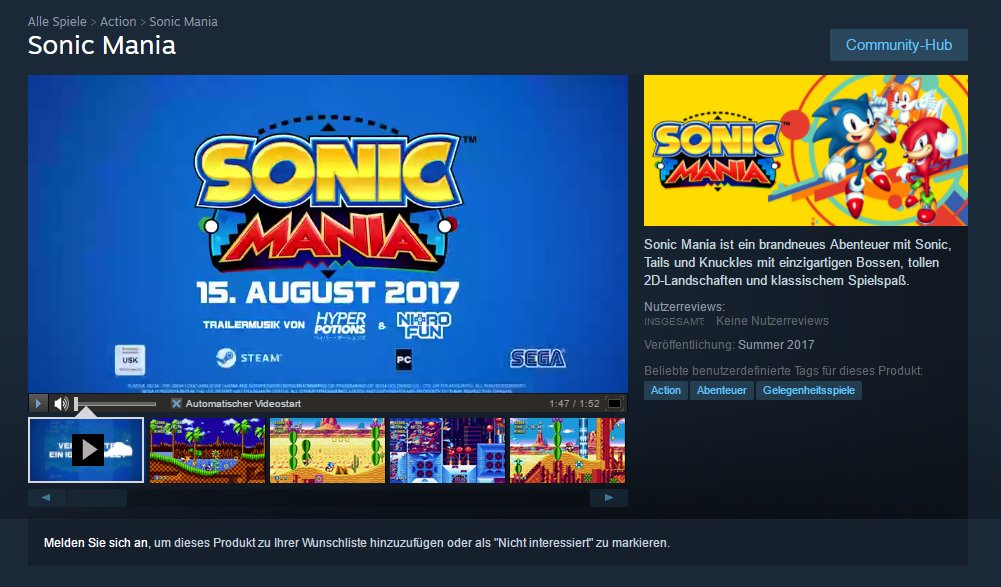 Sonic Mania Might Have Accidentally Revealed Summer Release