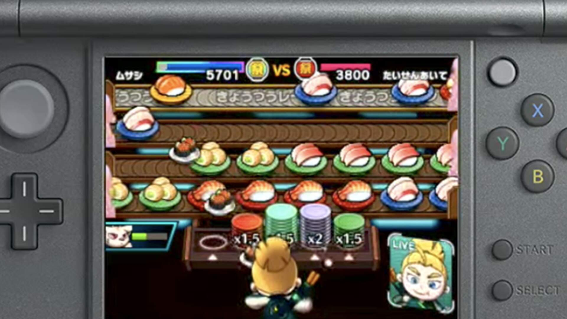 Sushi Striker: The Way of Sushido Is a Puzzle Action Game for the 3DS About Conveyor Belt Sushi
