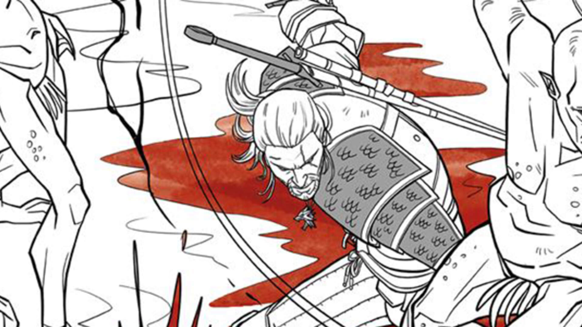 Finally, the Witcher Gets Its Own Coloring Book Complete With Bath Tub Geralt