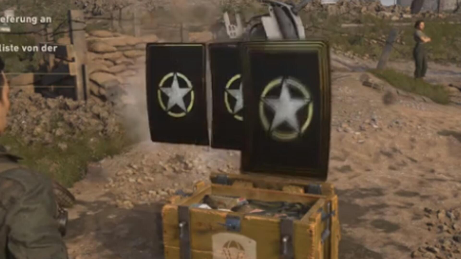 Call of Duty: WW2's Loot Boxes Drop From the Sky Onto Normandy Beach So You Can Show Off to Your Fellow Soldiers