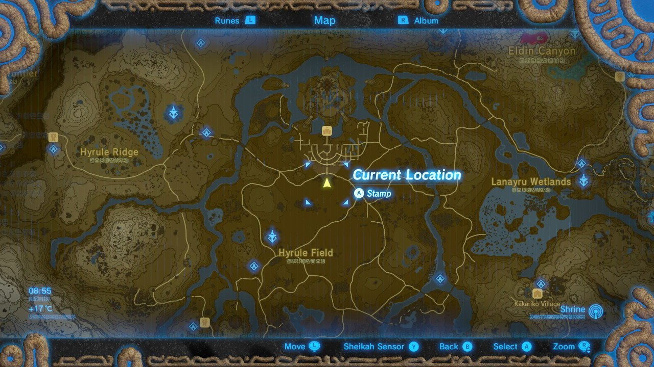 Zelda Breath of the Wild Captured Memories Locations - How