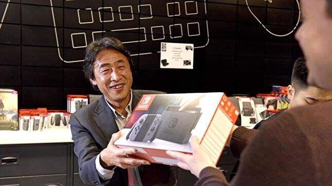 Nintendo Europe boss Satoru Shibata helped launch Switch in the UK
