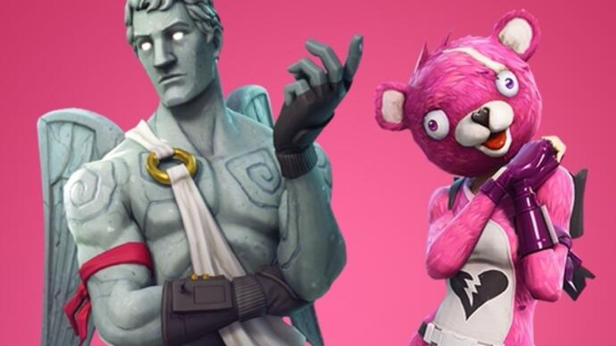 Fortnite Evento de Dia de S. Valentim - novas skins, besta do Cupido e notas do patch 2.4.2