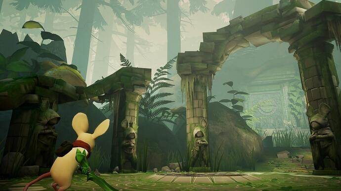 Here's more mousy gameplay from adorable PSVR platform puzzler Moss