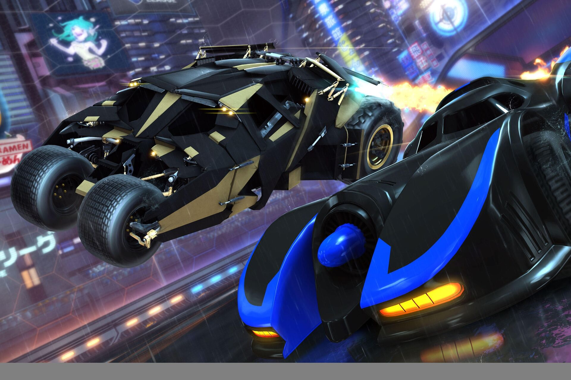 The Batmobile comes to Rocket League next month as part of the DC