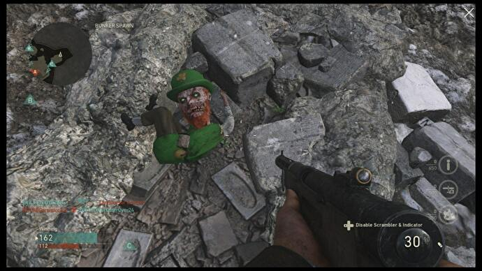 Call of duty ww2 now has a tiny leprechaun who spawns on the map that a leprechaun pops up in the middle of a tense world war 2 themed battle between allied and axis soldiers at all is hilarious to me gumiabroncs Image collections
