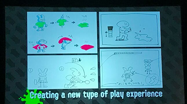 Early design documents for Splatoon