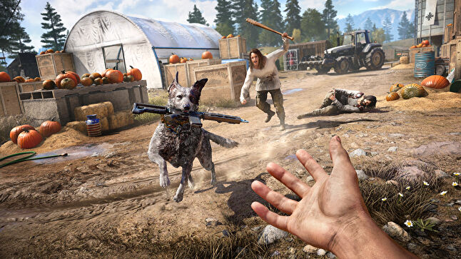 AI-controlled Guns For Hire characters - including Boomer the dog - are a highlight in Far Cry 5