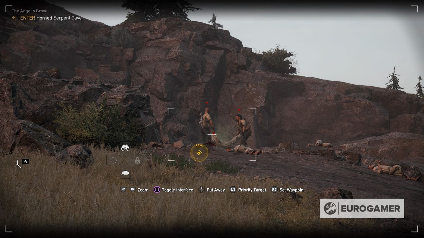how to get into horned serpent cave far cry 5