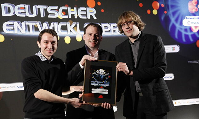 From left to right, Creative director Thomas Frey, Christian Ammann and Stefan Geiger