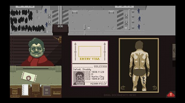 The mechanics of Papers, Please aren't particularly compelling but the human element added by each character's story is what makes them meaningful