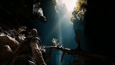While not visible in this shot, God of War features a stellar implementation of HDR with both a paper white and luminance adjustment available in the options menu.