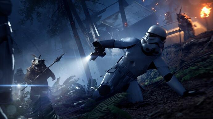 Star Wars: Battlefront 2's new Night On Endor update lets you play as an Ewok