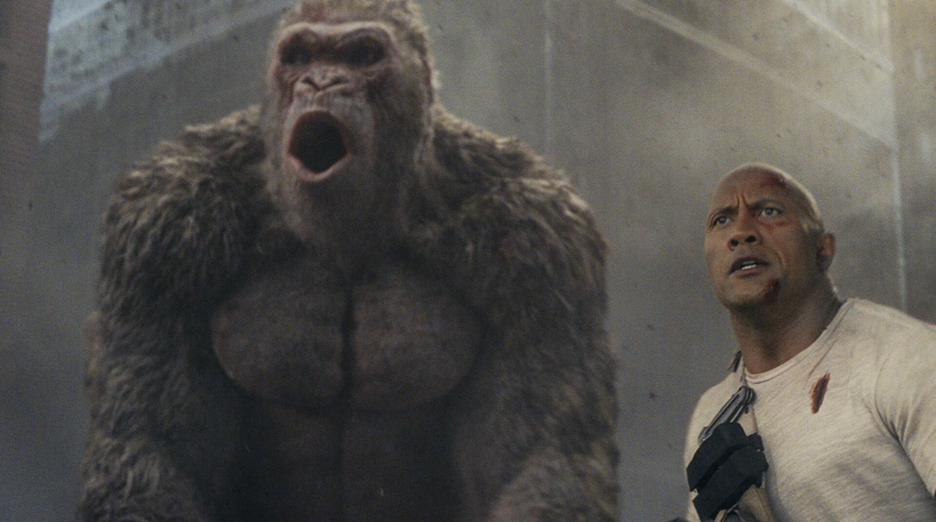 Rampage Film Review Even Shallower Than The Arcade Game Eurogamer Net