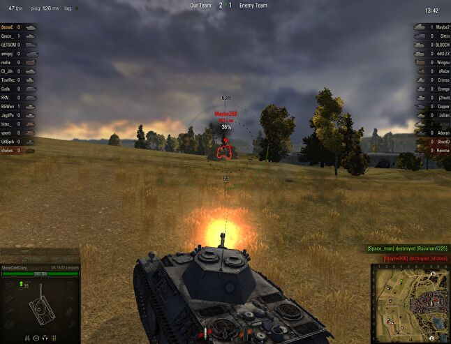 World of Tanks as it looked in 2011