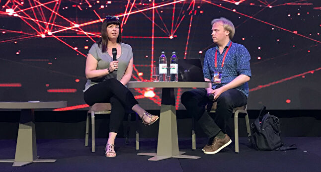 Ninja Theory's Nina Kristensen discussed the various ways studios can protect their business on stage at Reboot Develop