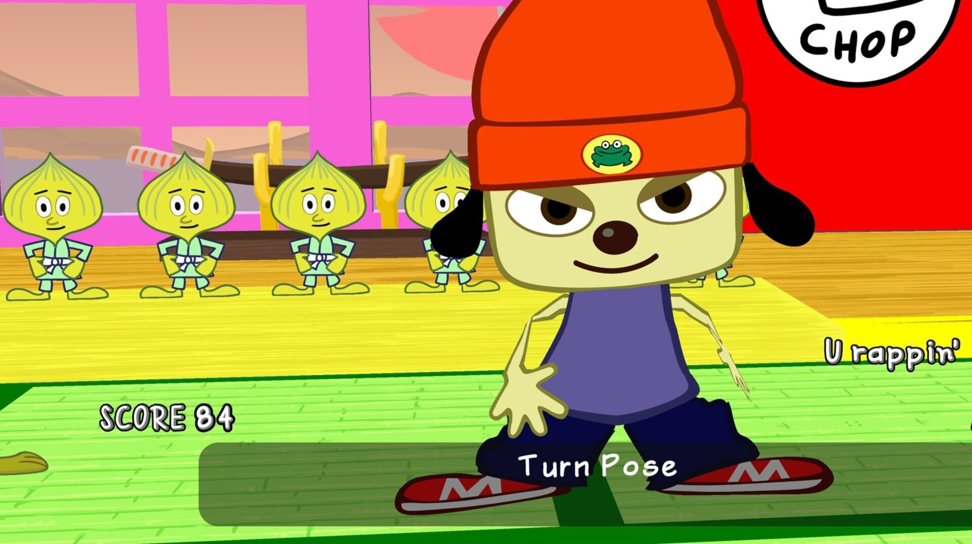 It looks like PS4 Parappa Remastered is the PSP game running