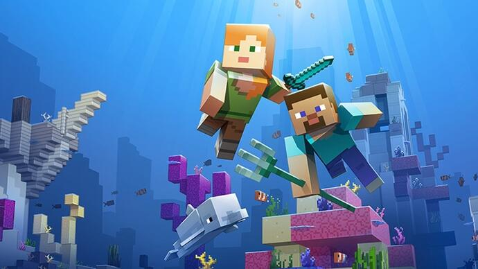 Minecraft's ocean-expanding Update Aquatic is out now on Xbox One andPC