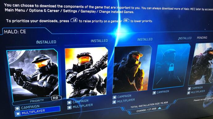 New Halo: The Master Chief Collection update lets you download and install the bits youwant
