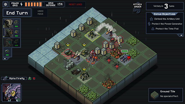 Into the Breach looks like a turn-based strategy game but has a puzzle game element to it